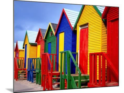 Beach Huts, Fish Hoek, Cape Peninsula, Cape Town, South Africa, Africa-Gavin Hellier-Mounted Photographic Print