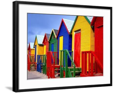 Beach Huts, Fish Hoek, Cape Peninsula, Cape Town, South Africa, Africa-Gavin Hellier-Framed Art Print