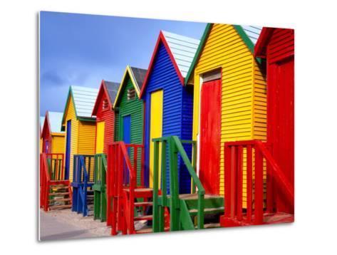 Beach Huts, Fish Hoek, Cape Peninsula, Cape Town, South Africa, Africa-Gavin Hellier-Metal Print