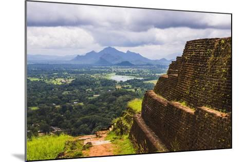 Ruins of King Kassapa's Palace in Front of the View from of Sigiriya Rock Fortress (Lion Rock)-Matthew Williams-Ellis-Mounted Photographic Print