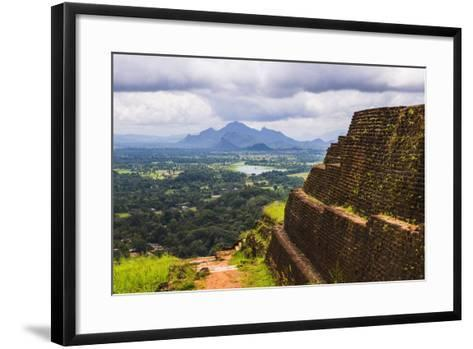 Ruins of King Kassapa's Palace in Front of the View from of Sigiriya Rock Fortress (Lion Rock)-Matthew Williams-Ellis-Framed Art Print