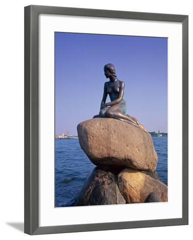 The Little Mermaid Statue in Copenhagen, Denmark, Scandinavia, Europe-Gavin Hellier-Framed Art Print