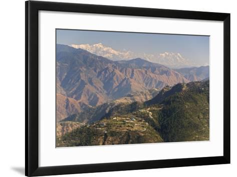 Gangotri Mountains, Garwhal Himalaya, Seen from Mussoorie Hill Station, Uttarakhand, India, Asia-Tony Waltham-Framed Art Print