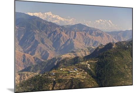 Gangotri Mountains, Garwhal Himalaya, Seen from Mussoorie Hill Station, Uttarakhand, India, Asia-Tony Waltham-Mounted Photographic Print