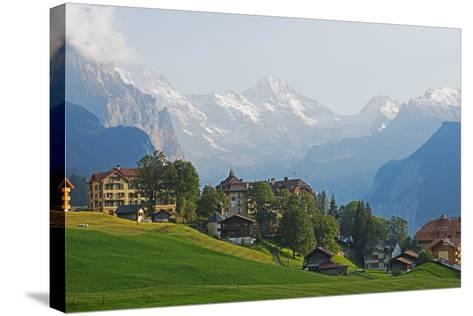 Wengen, Bernese Oberland, Swiss Alps, Switzerland, Europe-Christian Kober-Stretched Canvas Print