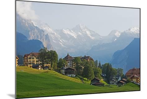 Wengen, Bernese Oberland, Swiss Alps, Switzerland, Europe-Christian Kober-Mounted Photographic Print