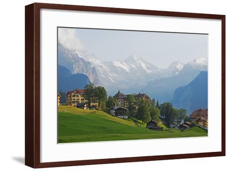Wengen, Bernese Oberland, Swiss Alps, Switzerland, Europe-Christian Kober-Framed Art Print