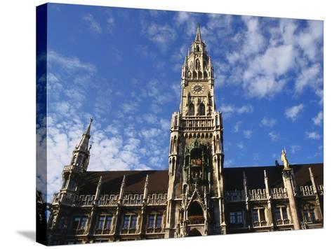 Exterior and Clock Tower of the Neues Rathaus, Munich, Bavaria, Germany-Ken Gillham-Stretched Canvas Print