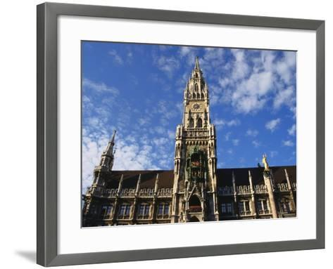 Exterior and Clock Tower of the Neues Rathaus, Munich, Bavaria, Germany-Ken Gillham-Framed Art Print