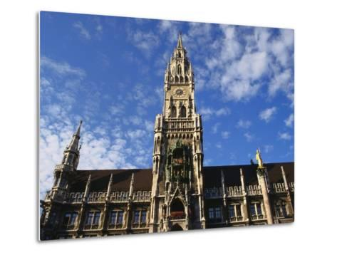 Exterior and Clock Tower of the Neues Rathaus, Munich, Bavaria, Germany-Ken Gillham-Metal Print
