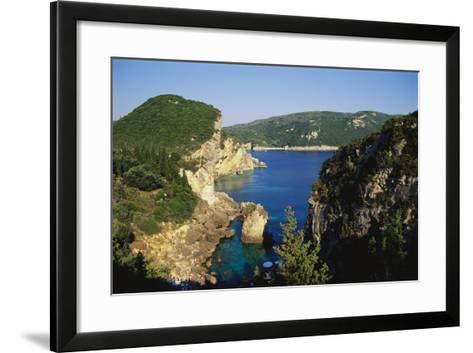 Paleokastritsa, Corfu, Greece-Hans Peter Merten-Framed Art Print