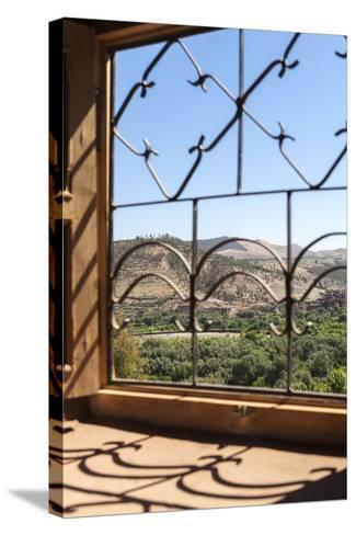 A View of the Ourika Valley as Glimpsed Through the Window of a Traditional Berber House-Charlie Harding-Stretched Canvas Print