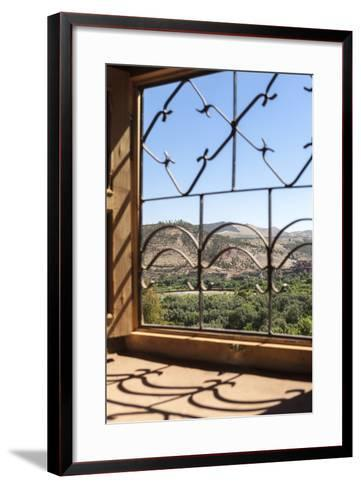 A View of the Ourika Valley as Glimpsed Through the Window of a Traditional Berber House-Charlie Harding-Framed Art Print