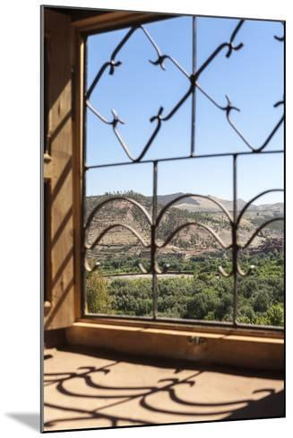 A View of the Ourika Valley as Glimpsed Through the Window of a Traditional Berber House-Charlie Harding-Mounted Photographic Print