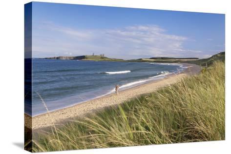Dunstanburgh Castle and Embleton Beach-Markus Lange-Stretched Canvas Print