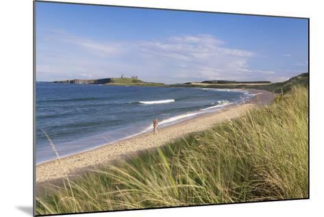 Dunstanburgh Castle and Embleton Beach-Markus Lange-Mounted Photographic Print