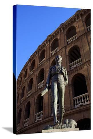 Statue of the Toreador Manolo Montoliu, Plaza De Toros, Valencia, Spain, Europe-Neil Farrin-Stretched Canvas Print