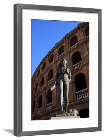 Statue of the Toreador Manolo Montoliu, Plaza De Toros, Valencia, Spain, Europe-Neil Farrin-Framed Art Print