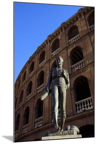 Statue of the Toreador Manolo Montoliu, Plaza De Toros, Valencia, Spain, Europe-Neil Farrin-Mounted Photographic Print
