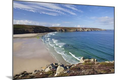 View from Pointe Du Van over the Baie Des Trepasses to the Pointe Du Raz-Markus Lange-Mounted Photographic Print