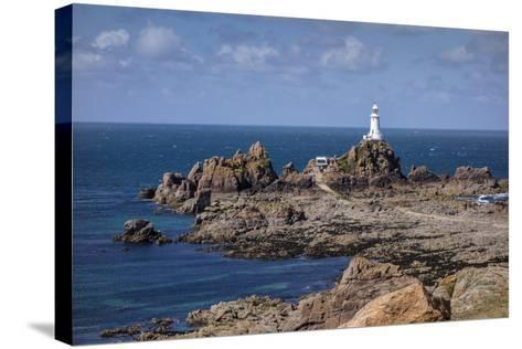 Corbiere Lighthouse and Rocky Coastline, Jersey, Channel Islands, United Kingdom, Europe-Roy Rainford-Stretched Canvas Print