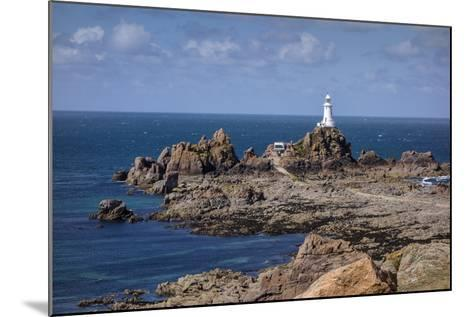 Corbiere Lighthouse and Rocky Coastline, Jersey, Channel Islands, United Kingdom, Europe-Roy Rainford-Mounted Photographic Print