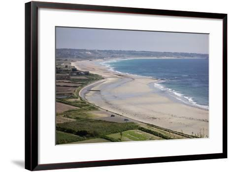 Beaches on St. Ouen's Bay, Jersey, Channel Islands, United Kingdom, Europe-Roy Rainford-Framed Art Print