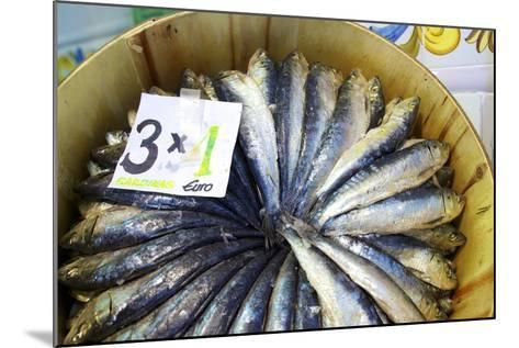 Sardines in Mercado Central (Central Market), Valencia, Spain, Europe-Neil Farrin-Mounted Photographic Print