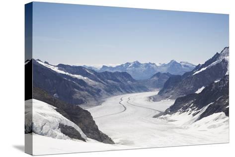 Aletsch Glacier, UNESCO World Heritage Site, Kleine Scheidegg-Angelo Cavalli-Stretched Canvas Print