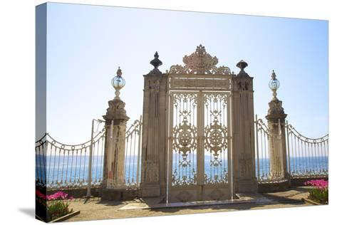 Gate to the Bosphorus, Dolmabahce Palace, Istanbul, Turkey, Europe-Neil Farrin-Stretched Canvas Print