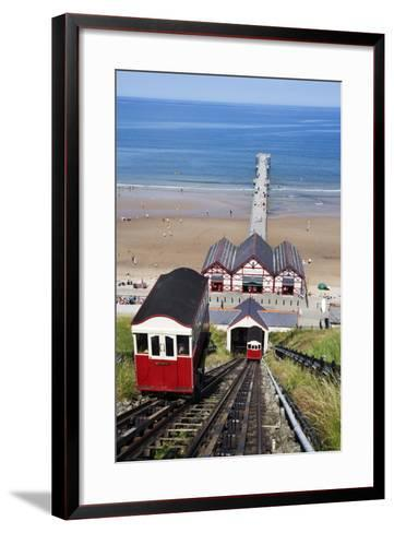 Cliff Tramway and the Pier at Saltburn by the Sea-Mark Sunderland-Framed Art Print