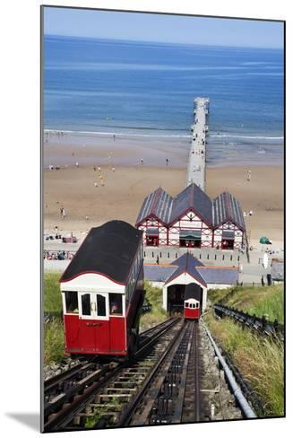 Cliff Tramway and the Pier at Saltburn by the Sea-Mark Sunderland-Mounted Photographic Print