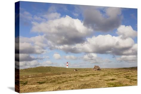 Lighthouse List Ost and Frisian House-Markus Lange-Stretched Canvas Print