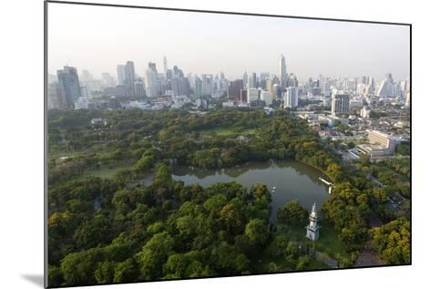City Skyline with Lumphini Park-Lee Frost-Mounted Photographic Print