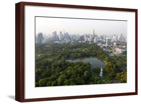 City Skyline with Lumphini Park-Lee Frost-Framed Art Print