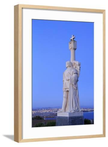 Juan Rodriguez Cabrillo Statue-Richard Cummins-Framed Art Print