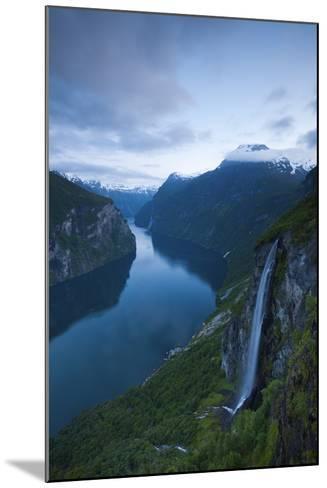 The Dramatic Geiranger Fjord Illuminated at Dusk-Doug Pearson-Mounted Photographic Print