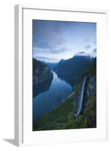 The Dramatic Geiranger Fjord Illuminated at Dusk-Doug Pearson-Framed Art Print