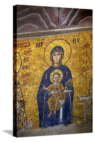 Mosaic of the Virgin and Child-Neil Farrin-Stretched Canvas Print