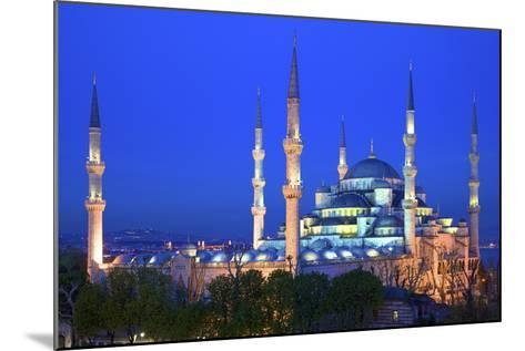Blue Mosque (Sultan Ahmet Camii), UNESCO World Heritage Site, at Dusk, Istanbul, Turkey, Europe-Neil Farrin-Mounted Photographic Print
