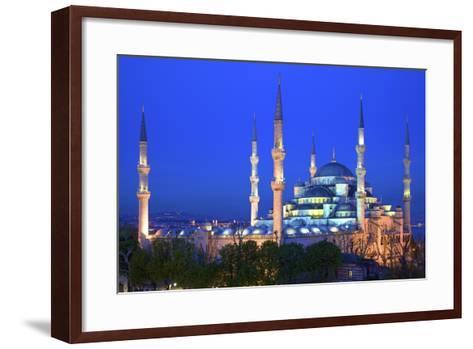 Blue Mosque (Sultan Ahmet Camii), UNESCO World Heritage Site, at Dusk, Istanbul, Turkey, Europe-Neil Farrin-Framed Art Print
