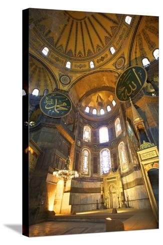 Interior of Hagia Sophia (Aya Sofya Mosque) (The Church of Holy Wisdom)-Neil Farrin-Stretched Canvas Print