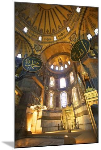 Interior of Hagia Sophia (Aya Sofya Mosque) (The Church of Holy Wisdom)-Neil Farrin-Mounted Photographic Print