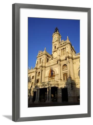 Town Hall, Plaza Del Ayuntamiento, Valencia, Spain, Europe-Neil Farrin-Framed Art Print