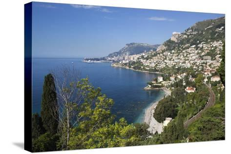 View Along Roquebrune Bay to Monte Carlo-Stuart Black-Stretched Canvas Print