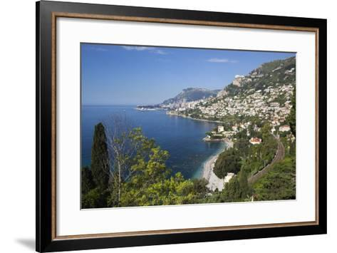 View Along Roquebrune Bay to Monte Carlo-Stuart Black-Framed Art Print