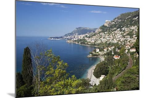 View Along Roquebrune Bay to Monte Carlo-Stuart Black-Mounted Photographic Print