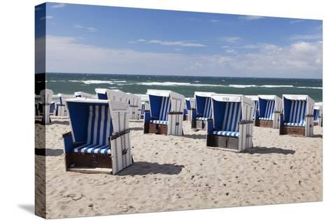 Beach Chairs on the Beach of Westerland-Markus Lange-Stretched Canvas Print