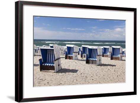 Beach Chairs on the Beach of Westerland-Markus Lange-Framed Art Print
