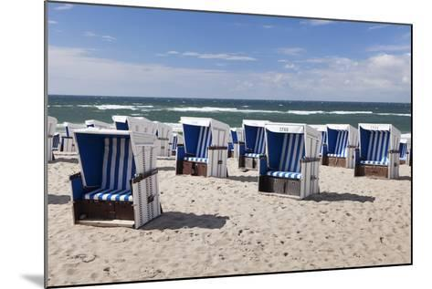 Beach Chairs on the Beach of Westerland-Markus Lange-Mounted Photographic Print